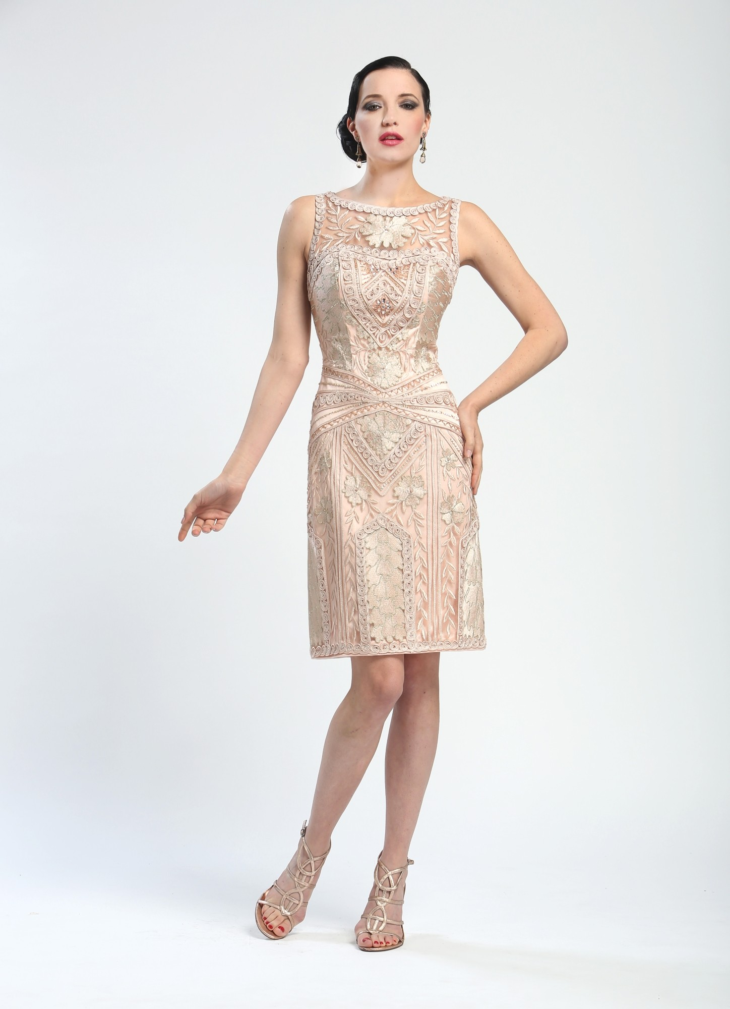 sue Wong dresses elegant-embroidered-short-cocktail-dress-in-blush-by-sue-wong