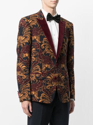 ... dolce u0026 gabbana printed velvet smoking jacket dvvlhdu