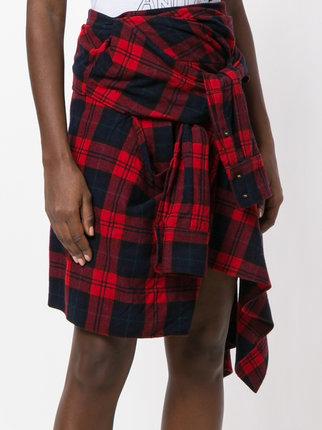 ... dsquared2 asymmetric tartan skirt bzesmls