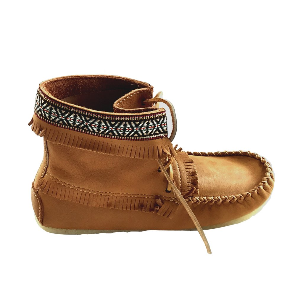 ... menu0027s cork brown leather moccasin boots 137597m-c ... movomti