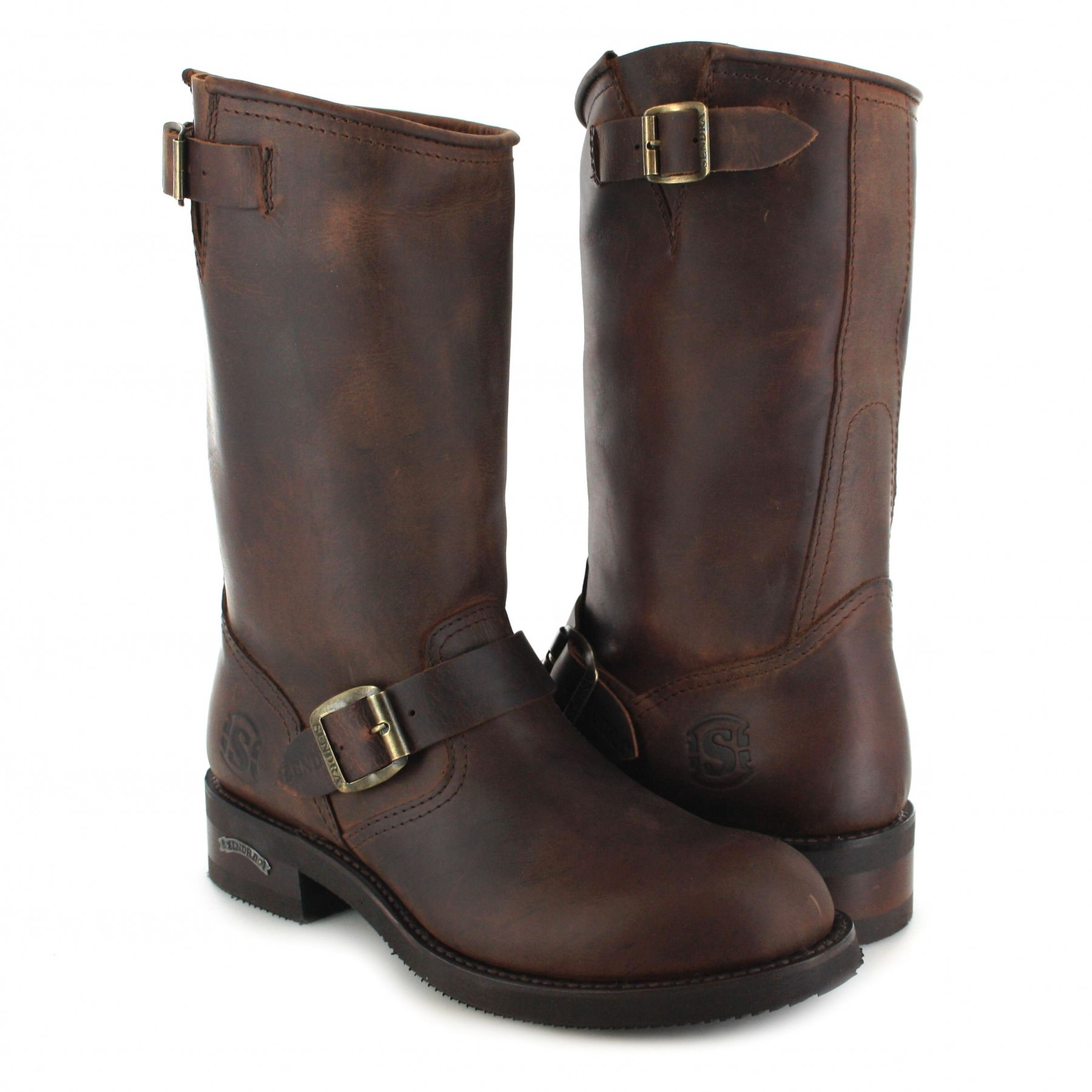 ... sendra boots 2944 sprinter engineer boot with no steel toecap- brown - rquxaid