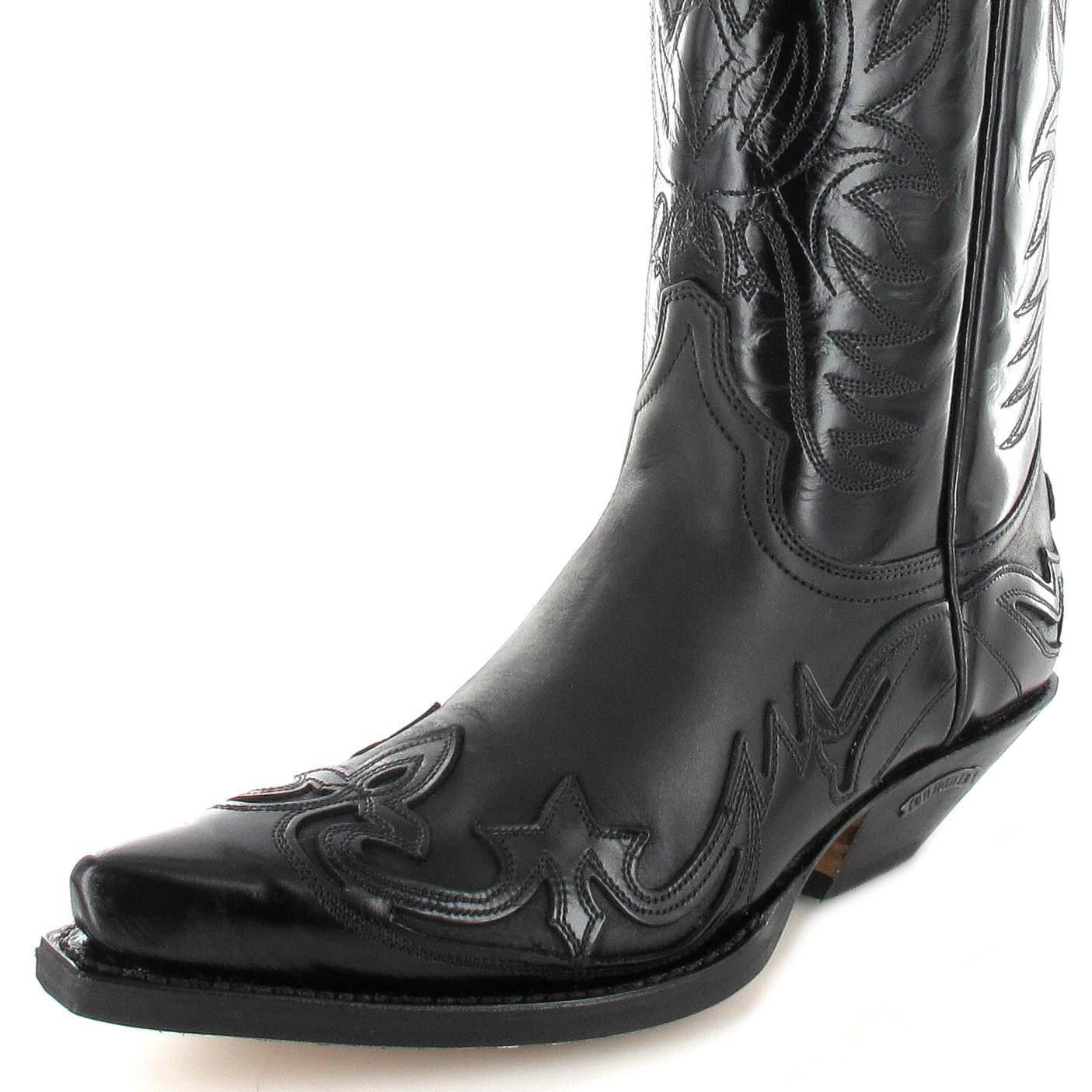 ... sendra boots 3241 negro western boot black image cemuhpq