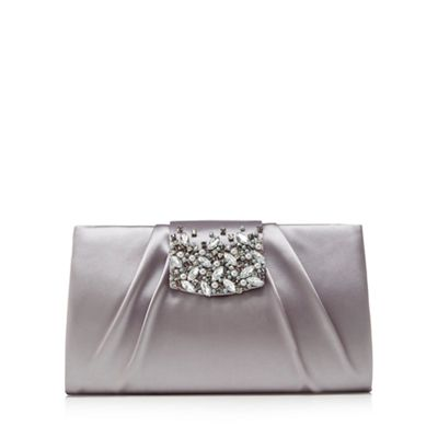 1 jenny packham grey satin embellished clutch bag | debenhams jklybdm