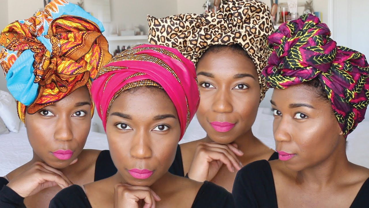 10 chic ways to tie head wraps | super easy - naptural85 - rdwaruo