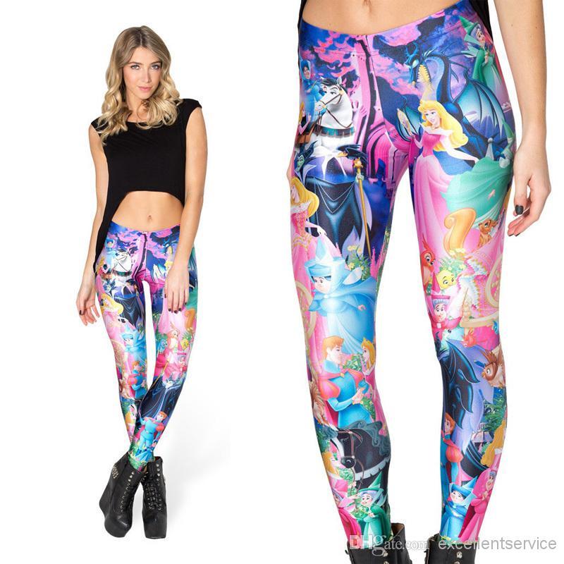 2014 women legging black milk leggings sleeping beauty leggings girl legging  pants oszwfmr