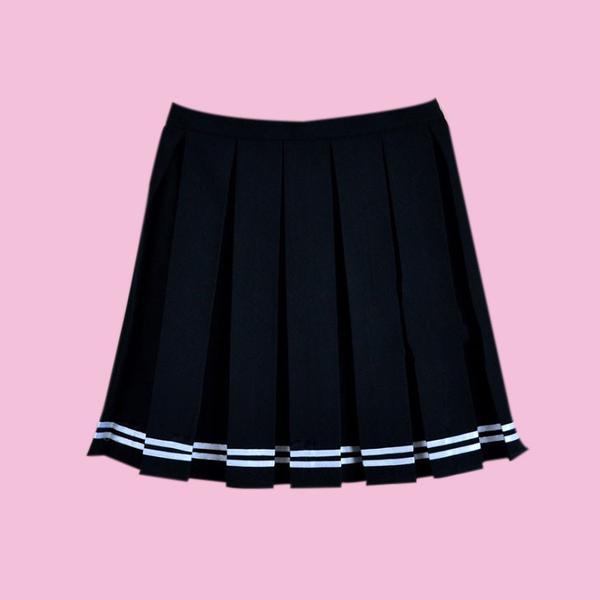 2017 black friday -tumblr aesthetic pleated skirt - kokopiecoco imkmklh
