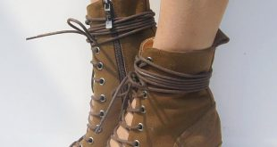 2017 cowhide leather summer shoes botines mujer lace up summer boots thick tymnhax
