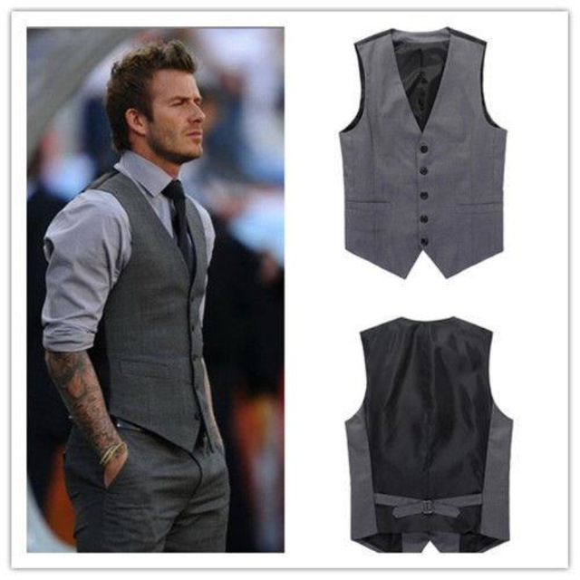 2017 new arrival navy blue/blue/grey vest for men slim fit mens suit wqbgiiy
