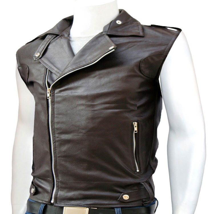 a stylish leather vest for men cezzham