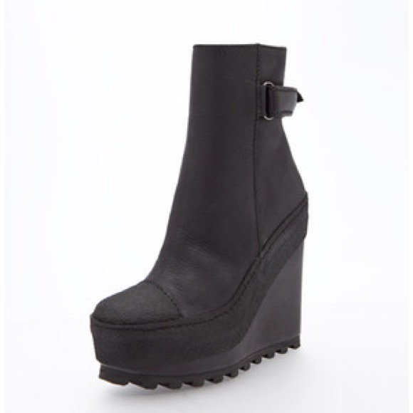 acne shoes - acne hero wedge boots gzoluoz
