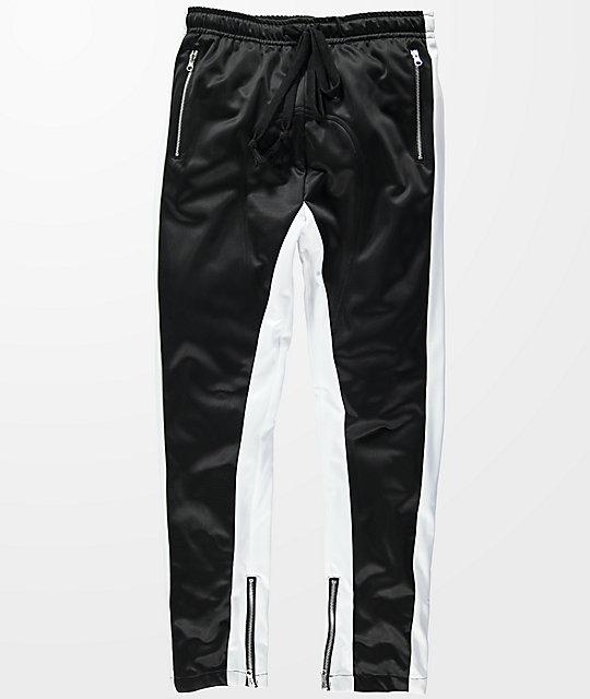 american stitch black u0026 white tricot track pants ... fatzcbf