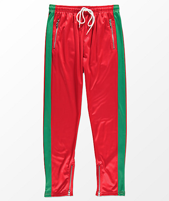 american stitch red u0026 green tricot track pants ... rvwxglk