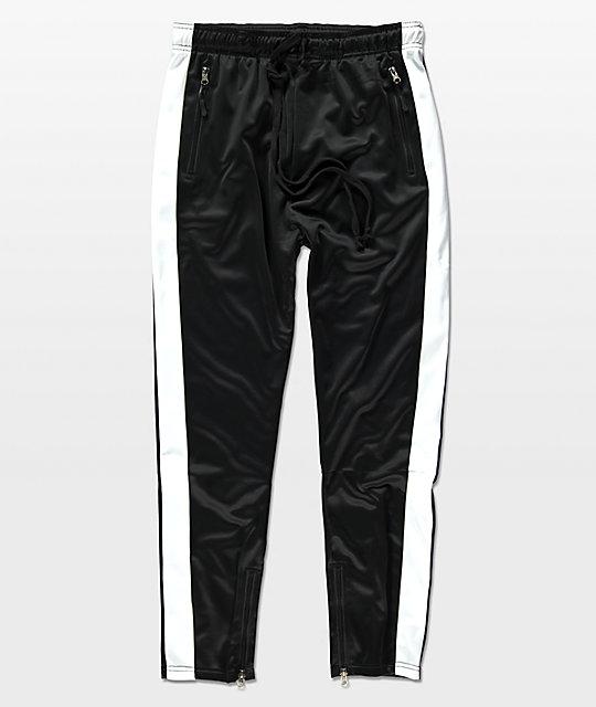 american stitch tricot black u0026 white track pants ... vvqwdgg