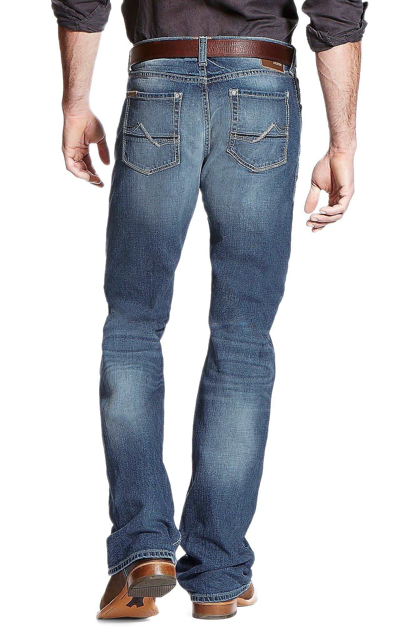 ariat jeans ariat menu0027s medium wash m4 cole fargo stretch boot cut jeans | cavenderu0027s qmjelov