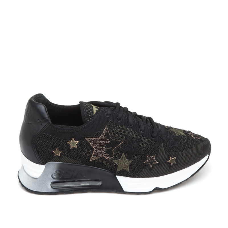 ash sneakers ash lucky star black army mesh