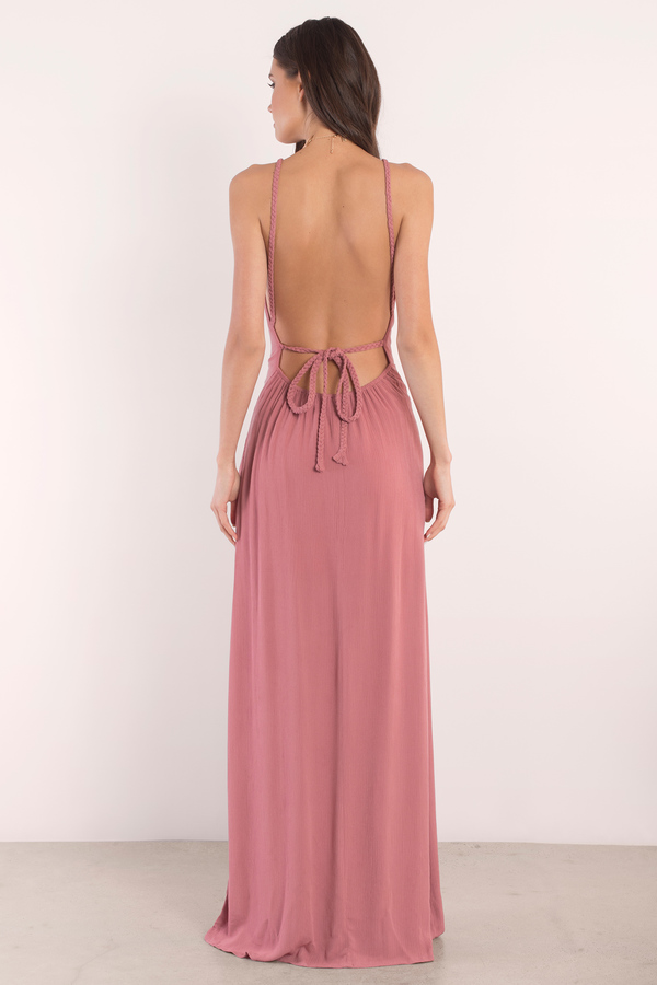 backless maxi dress ... lake terracotta halter maxi dress kababrj