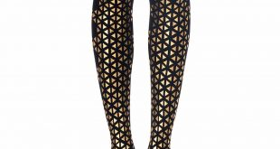 beat goes on triangles patterned tights black gold zohara f241 bg lomxtdr
