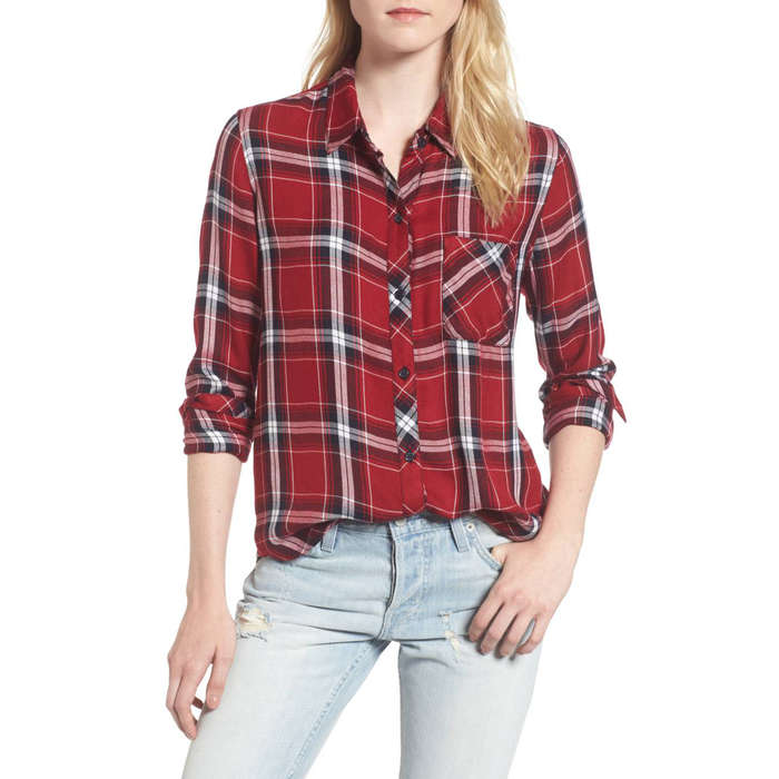 best womenu0027s plaid shirts - rails hunter plaid shirt ikomkno