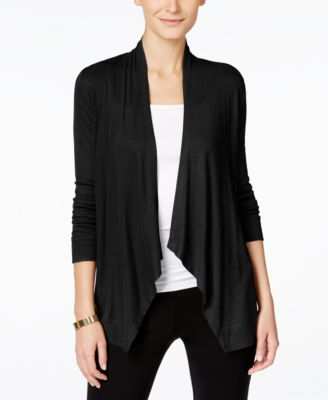 black cardigan inc international concepts draped cardigan, created for macyu0027s vaztpir
