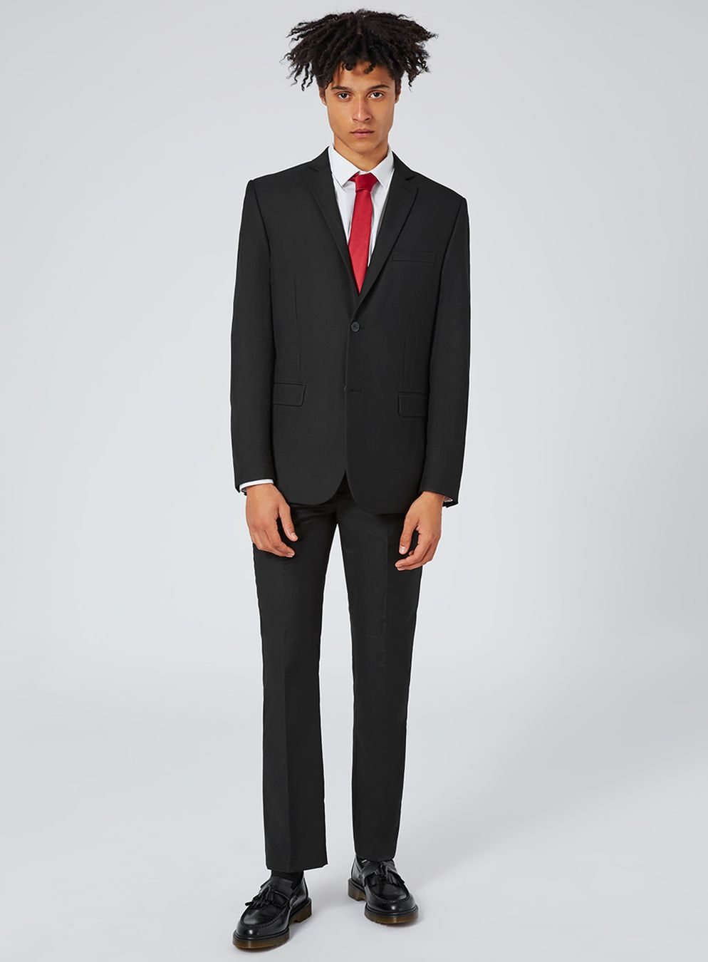 black twill slim fit suit pants - topman usa iewloir