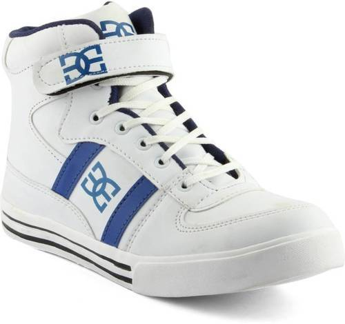 blue, white white mens long sneakers shoes bvmsrcb