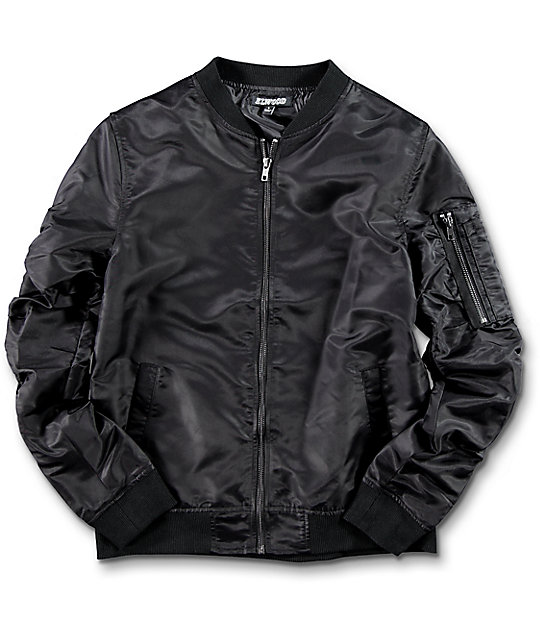 boys jackets elwood boys black bomber jacket ...