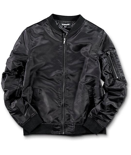 boys jackets elwood boys black bomber jacket ... pxuglvc