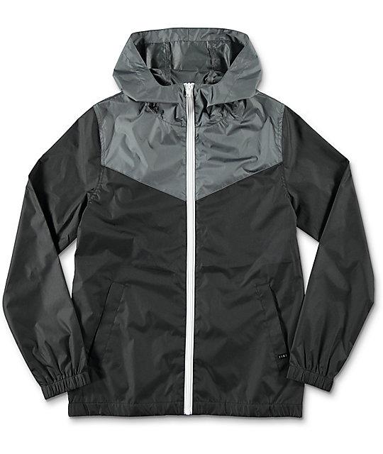 boys jackets zine boys sprint black u0026 charcoal windbreaker jacket ... zunjqlc