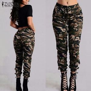 cargo pants for women image is loading camouflage-printed-pants-plus-size-army-cargo-pants- kpprqsc