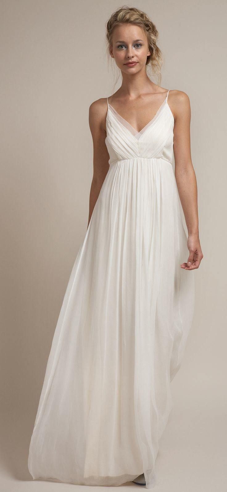 casual wedding dresses for the minimalist fvazwqf