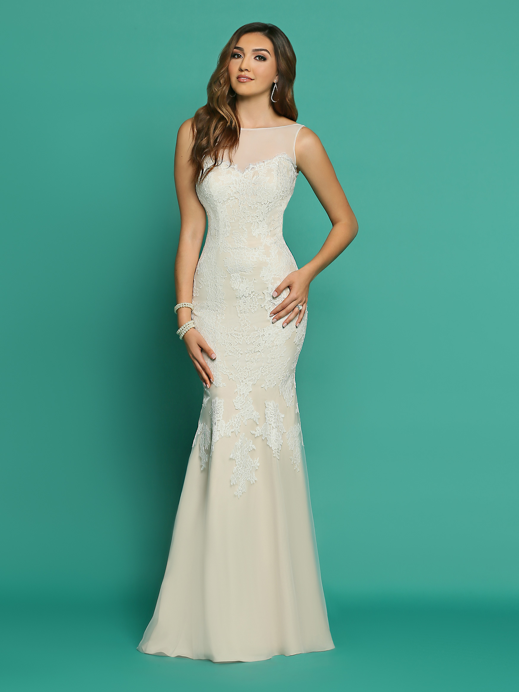 casual wedding dresses image showing front view of style #f7054 ... sljhsmt