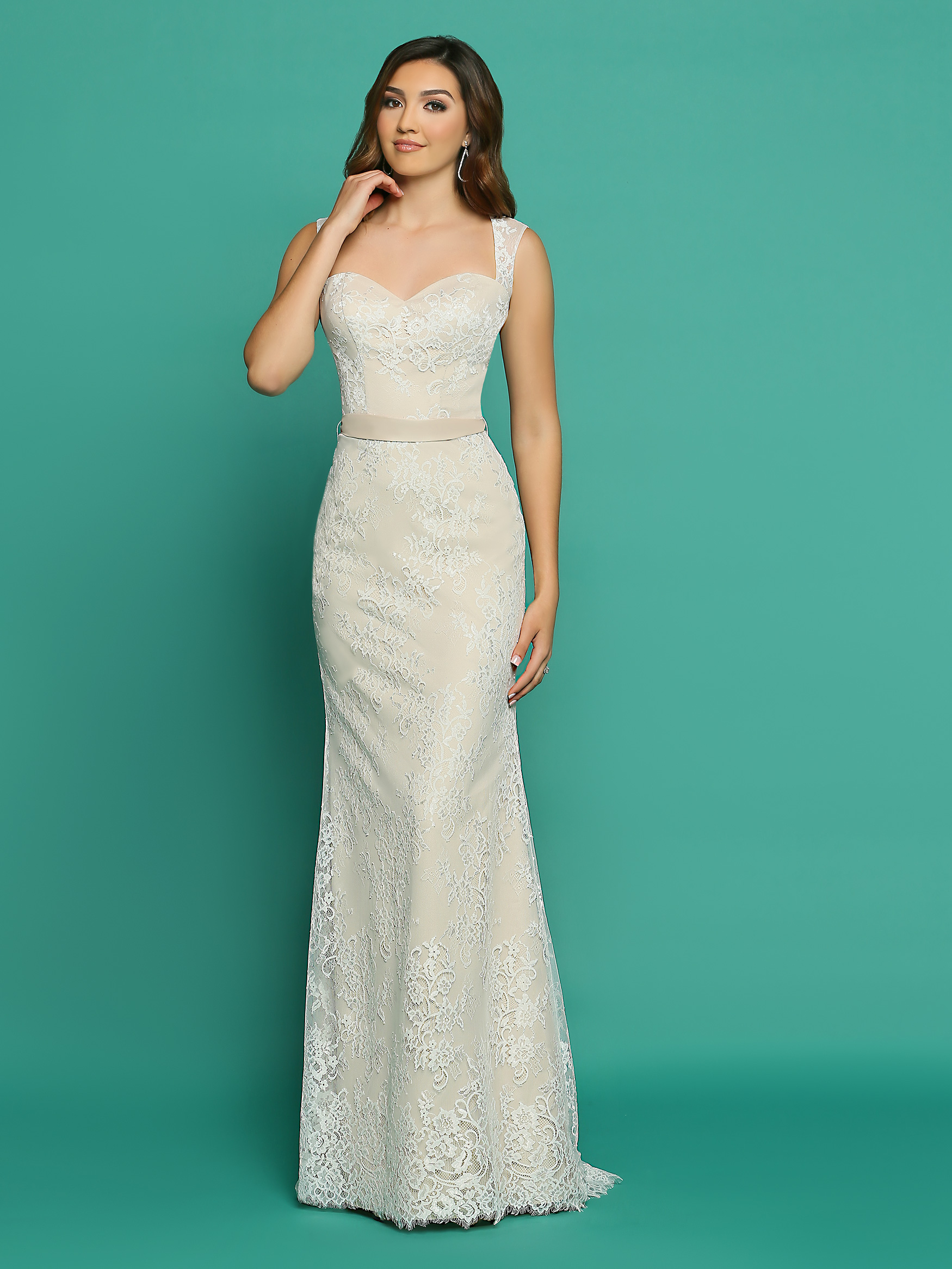 casual wedding dresses image showing front view of style #f7056 ... zjbonfq