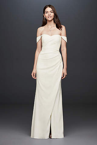 casual wedding dresses long sheath casual wedding dress - db studio estgrec