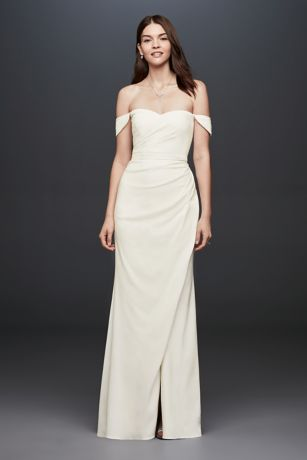 casual wedding dresses long sheath casual wedding dress - db studio qujpbts