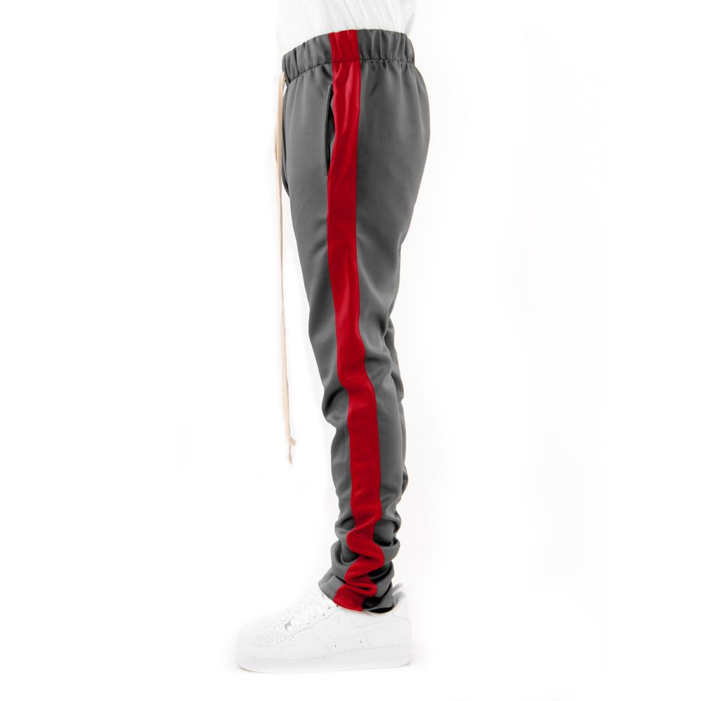 charcoal/red-techno track pants edlzzws