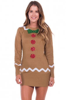 christmas dresses womenu0027s gingerbread sweater dress mvxfokw