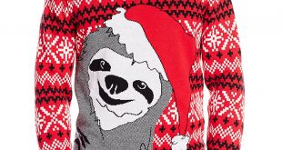 christmas sweaters alex stevens menu0027s slothy christmas ugly christmas sweater at amazon menu0027s  clothing nbxfaxv