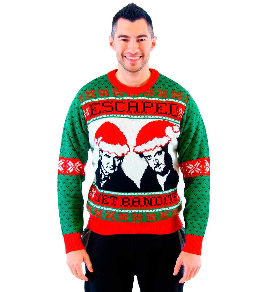 christmas sweaters home alone wet bandits ugly christmas sweater tndrduh