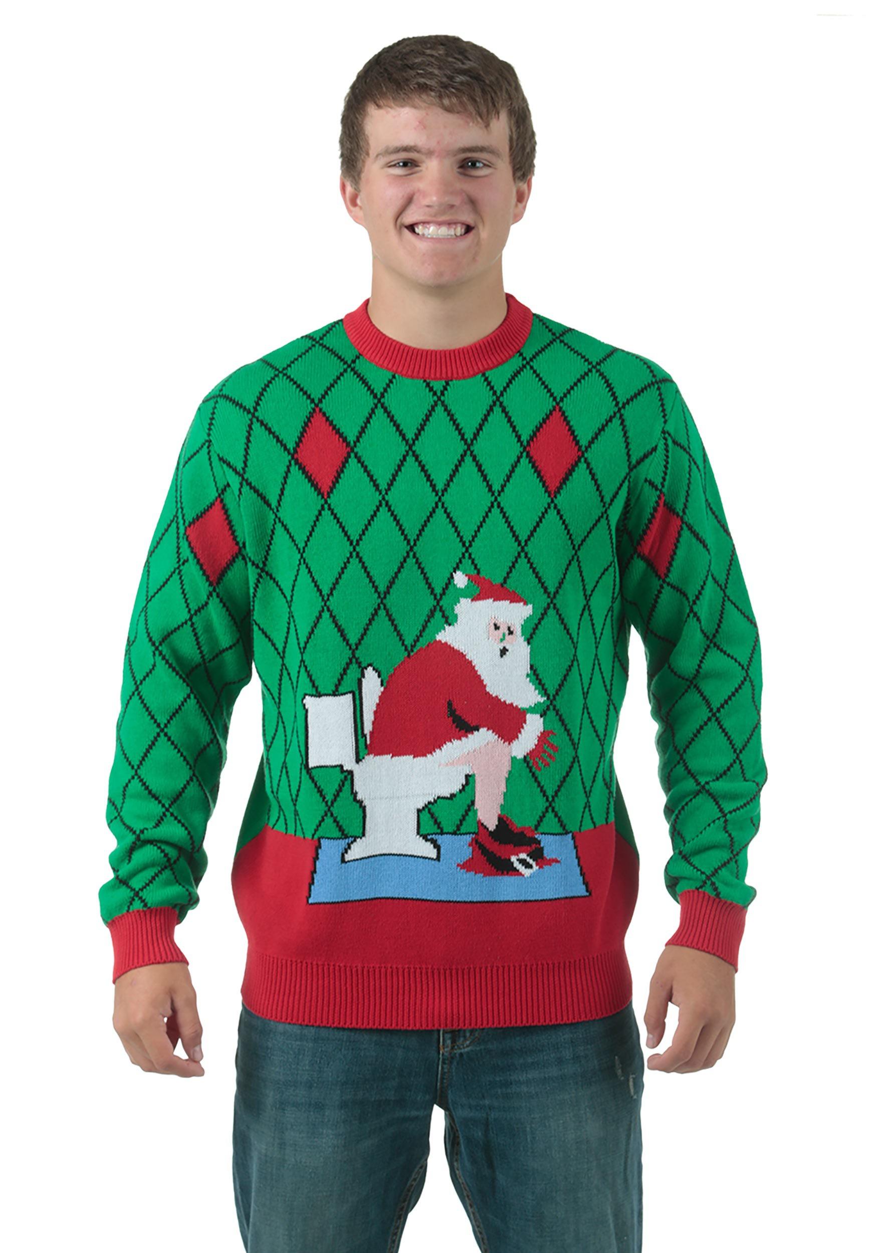 christmas sweaters toilet santa ugly christmas sweater pwctfza