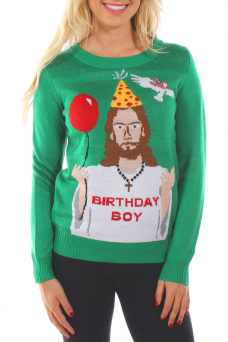 christmas sweaters womenu0027s happy birthday jesus ugly christmas sweater tjiwrrw