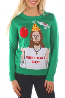 christmas sweaters womenu0027s happy birthday jesus ugly christmas sweater tjiwrrw