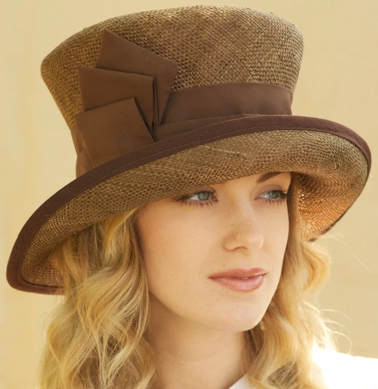 church hats cocoa brown straw kentucky derby church hat by awarddesign on etsy tnudgru