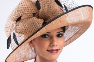 church hats cognac and black simamay church hat ldfrtgu