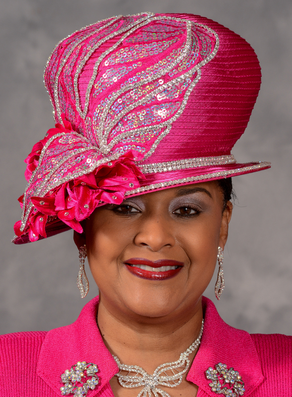church hats eve andrea asymmetric brim church hat in hot pink guuzxpt