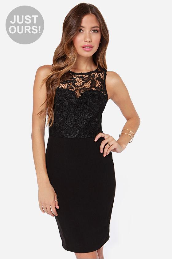 classy dresses classy black dress - lace dress - midi dress - $60.00 aglsish