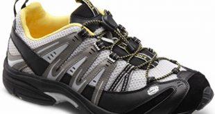 comfort shoes amazon.com | dr. comfort menu0027s performance black grey diabetic athletic  shoes | tqnvbmk