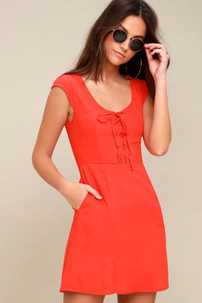 coral u0026 orange dresses|affordable orange u0026 coral dresses at lulus xcnwuzt