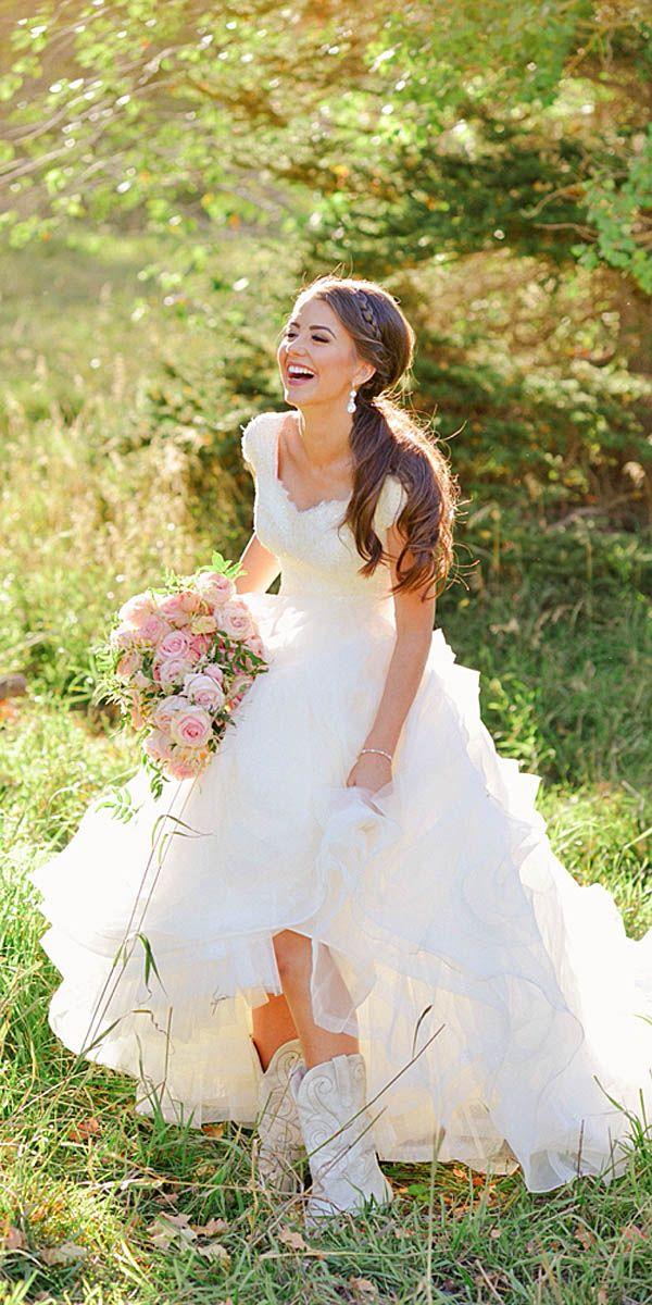 country wedding dresses 24 bridal inspiration: country style wedding dresses badgndn
