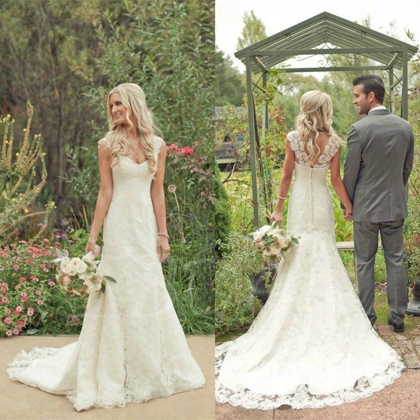 country wedding dresses ... mermaid lace country wedding dress ynyhpbs