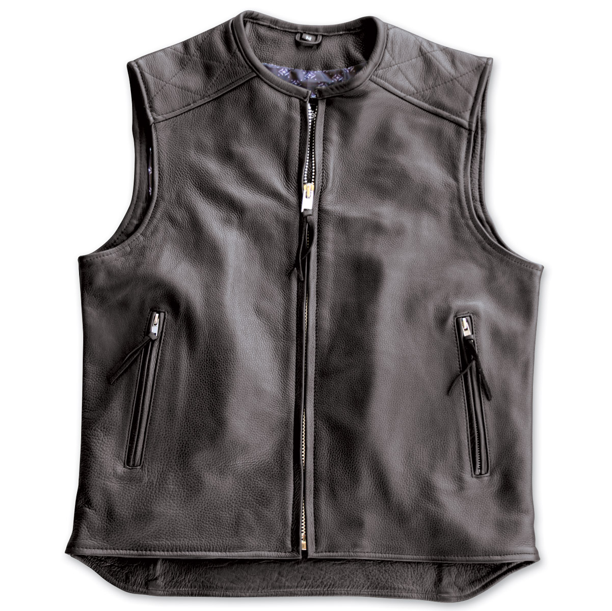 crank u0026 stroker supply hardball motorcycle black leather vest ... pjdltxt